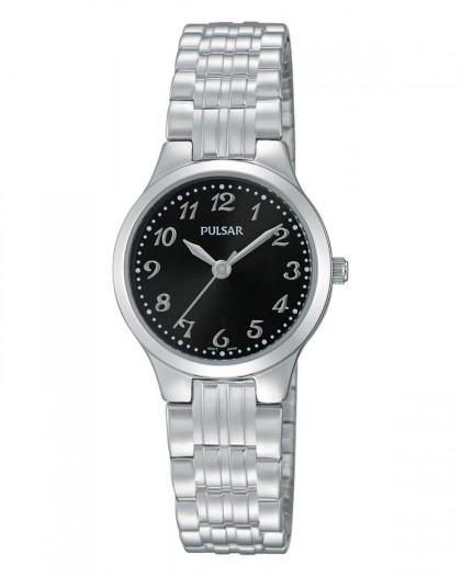 Pulsar Quartz Black Dial Women's Watch