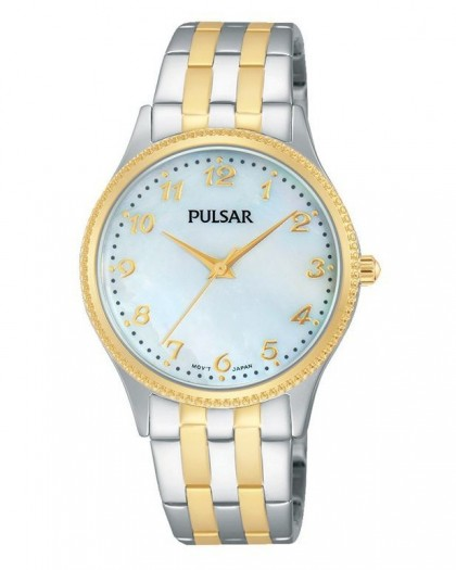 Pulsar Quartz Mother-of-Pearl Dial Two-Tone Women's Watch