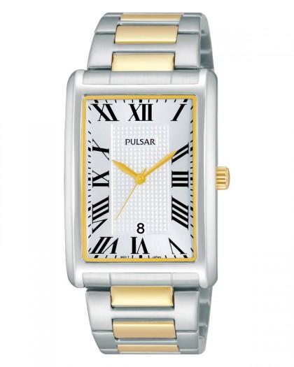 Pulsar Quartz Silver Dial Two-Tone Men's Watch