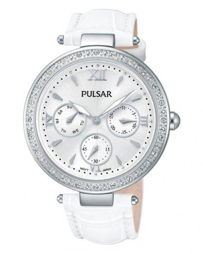 Pulsar Quartz Silver Dial Crystals Women's Watch