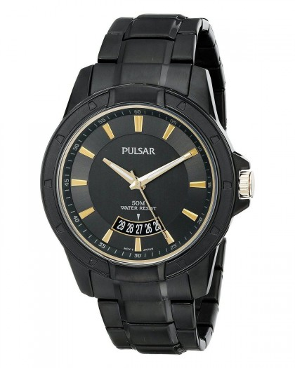 Pulsar Quartz Black Dial Men's Watch