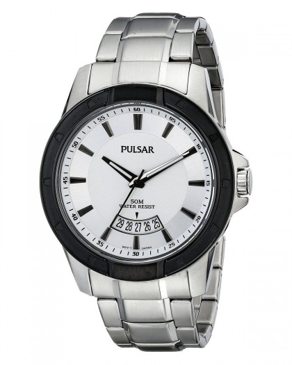 Pulsar Quartz White Dial Men's Watch