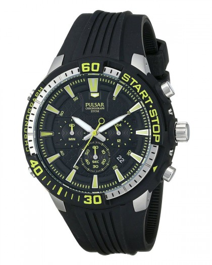 Pulsar Chronograph Quartz Black Dial Men's Watch