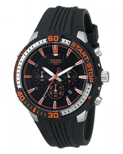 Pulsar Chronograph Quartz Black Dial Men's Watch