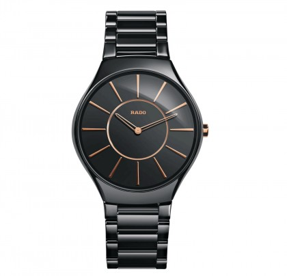 Rado Trueline Thin L Quartz Black Ceramic Men's Watch