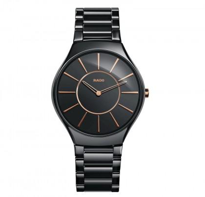 Rado Trueline Thin L Quartz Black Ceramic Men's Watch
