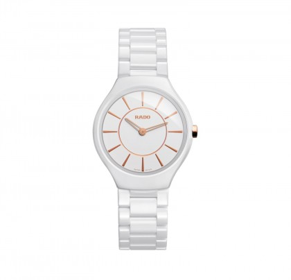 Rado True Thinline S Quartz White Ceramic Women's Watch