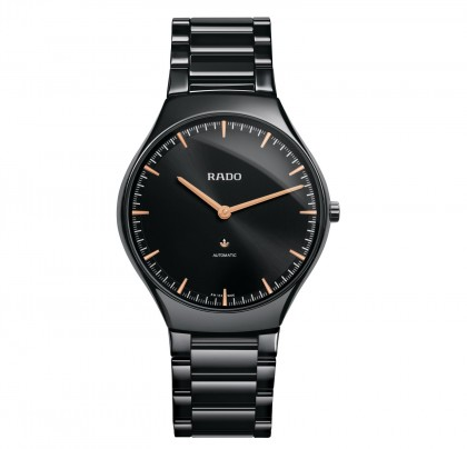 Rado True Thinline L Automatic Black Ceramic Men's Watch