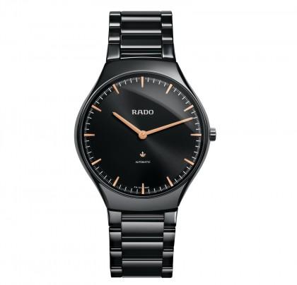 Rado True Thinline L Automatic Black Ceramic Men's Watch
