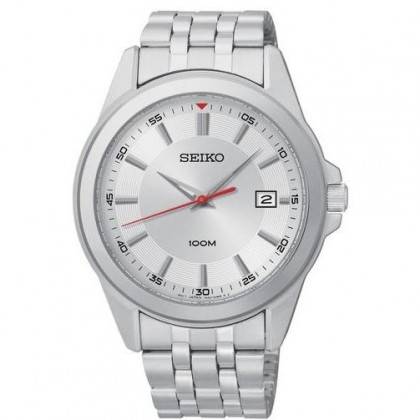 Seiko Silver Dial Stainless Steel Mens Watch