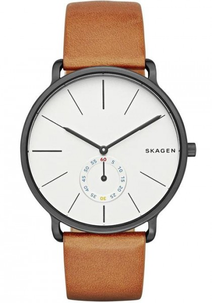 Skagen Hagen Leather Band Stainless Steel Men's Watch