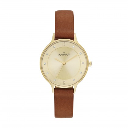 Skagen Anita Stainless Steel Leather