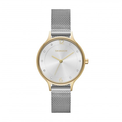 Skagen Anita Stainless Steel Mesh Band Stainless Steel Women's Watch
