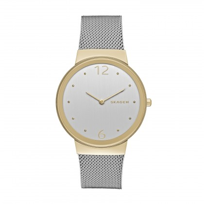 Skagen Freja Stainless Steel Mesh Band Stainless Steel Women's Watch