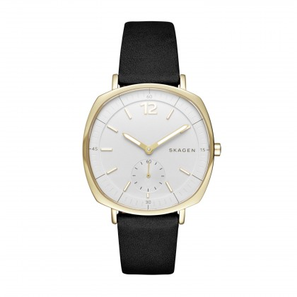 Skagen Rungsted Leather Band Stainless Steel Women's Watch