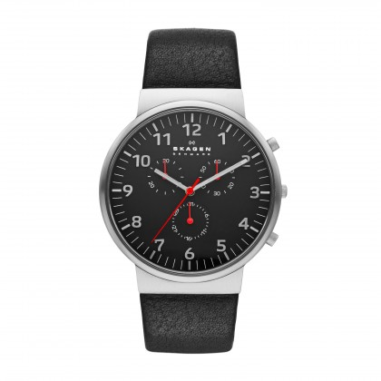 Skagen Ancher Stainless Steel Leather