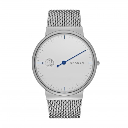 Skagen Ancher Stainless Steel Mesh Band Stainless Steel Men's Watch