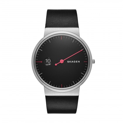 Skagen Ancher Leather Band Stainless Steel Men's Watch