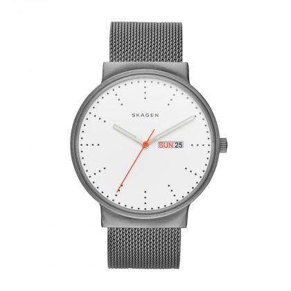 Skagen Ancher Stainless Steel Mesh Band Titanium Men's Watch