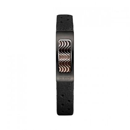 Philip Stein Slim Sleep Black Plated Bracelet