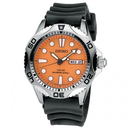 Seiko Men's Solar Rubber Strap Watch