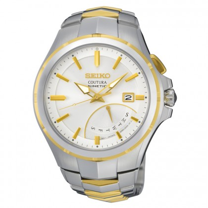 Seiko Coutura Kinetic Two Tone Men's Watch SRN064