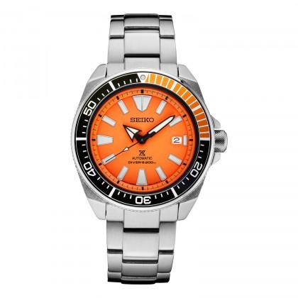 Seiko Samurai Prospex Automatic Dive Watch Orange Dial