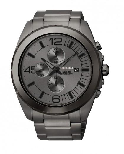 Seiko Solar Mens Chronograph Quartz Watch