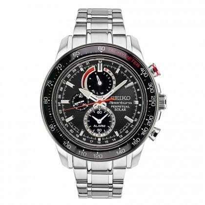 Seiko Sportura Solar Perpetual Chronograph Men's Watch SSC357