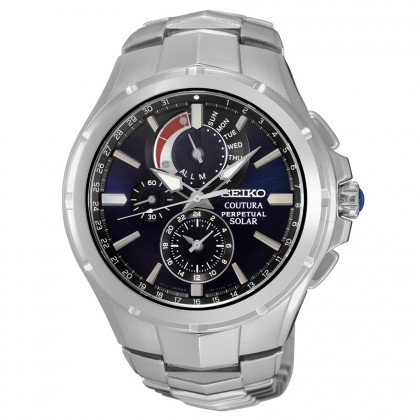 Seiko Coutura Solar Perpetual Chronograph Men's Watch SSC375