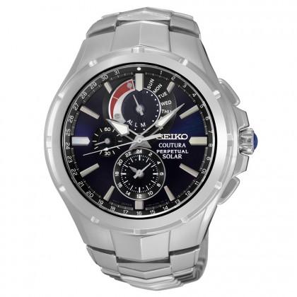 Seiko Coutura Solar Perpetual Chronograph Men's Watch SSC375