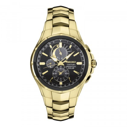 Seiko Men's Coutura Stainless Steel Solar Chronograph Watch