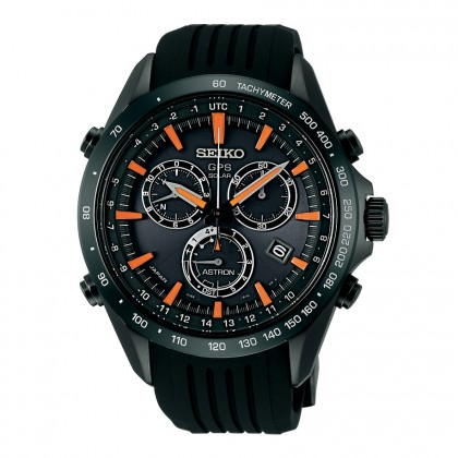Seiko Astron 8x Silicone Black Orange