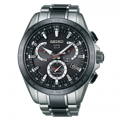 Seiko Astron 8x Dual Time Black Ceramic & Titanium