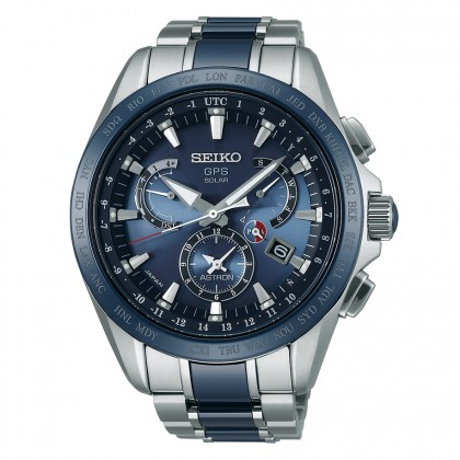 Seiko Astron 8x Dual Time Blue Ceramic & Titanium