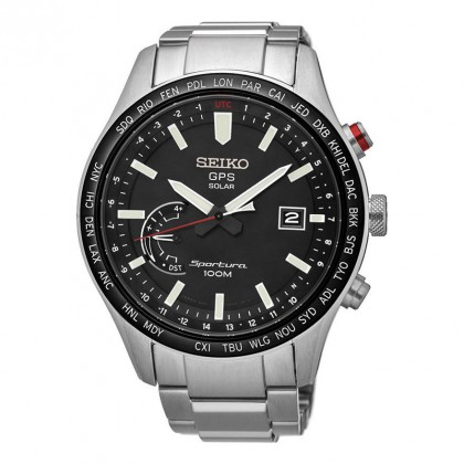 Seiko Sportura GPS Solar Stainless Steel Mens Watch SSF003