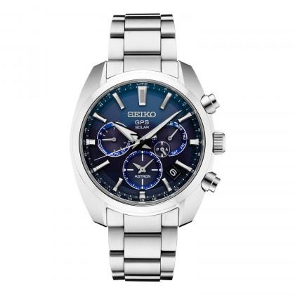 Seiko Astron GPS Solar Blue Dial Stainless Steel Watch