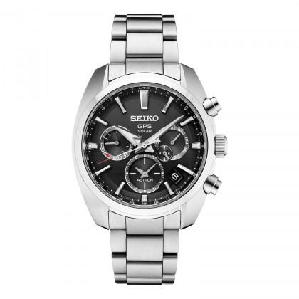 Seiko Astron GPS Solar Black Dial Stainless Steel Watch