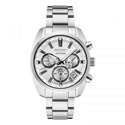 Seiko Astron GPS Solar Silver Dial Stainless Steel Watch