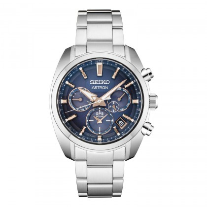Seiko Astron GPS Solar Blue Dial w/ Rose Gold Accents Watch