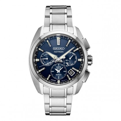 Seiko Astron GPS Solar Blue Dial Titanium Watch