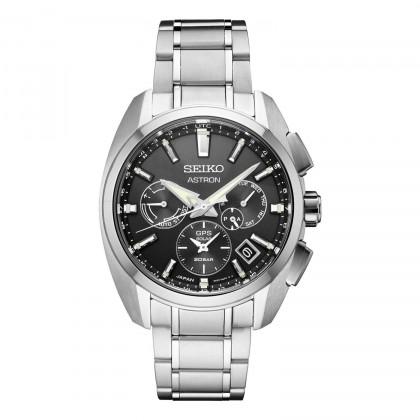 Seiko Astron GPS Solar Black Dial Titanium Watch