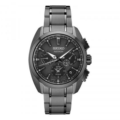 Seiko Astron GPS Solar All Black Titanium Watch