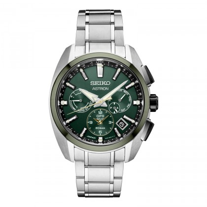Seiko Astron GPS Solar Limited Edition Green Bezel & Dial Titanium Watch