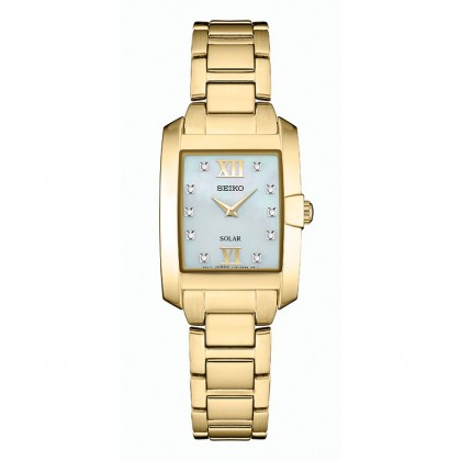 Seiko Core Diamond Solar Stainless Steel Watch SUP378