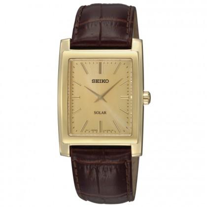 Seiko Solar Gold Dial Men's Watch