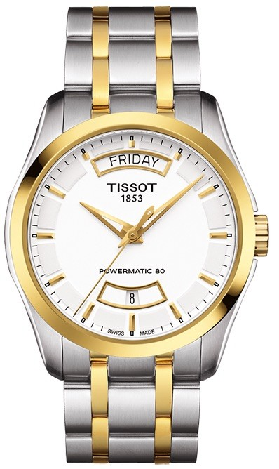 Tissot Couturier Powermatic 80 Two-Tone Watch T0354072201101