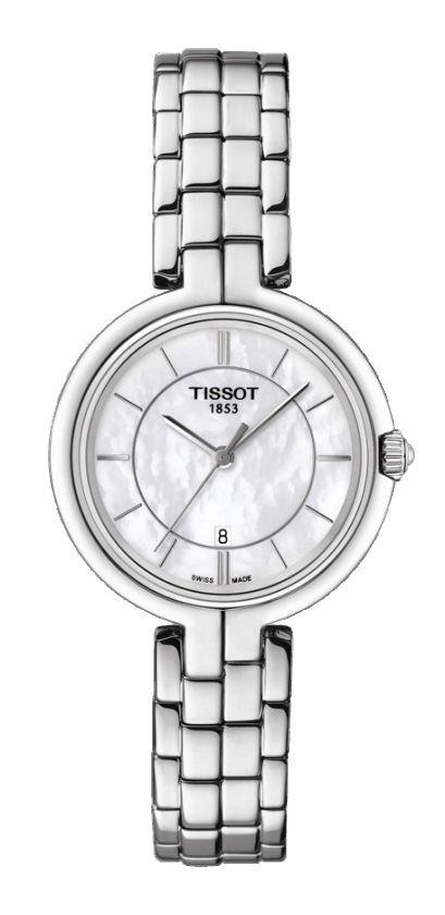 Tissot Flamingo Women's Quartz MOP White Dial with Stainless Steel Bracelet