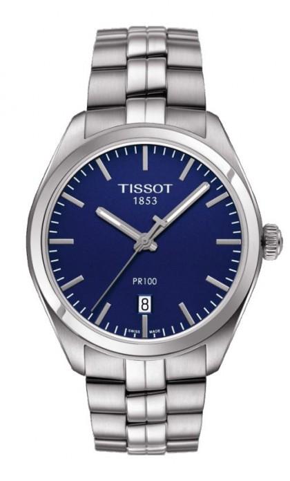 Tissot PR 100 Men's Quartz Blue Dial with Stainless Steel Bracelet