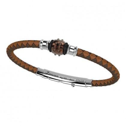 Zancan Silver & Stainless Steel Bracelet TSB027-MA